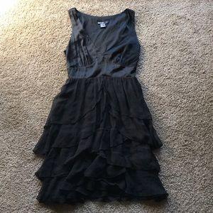Kensie Black Ruffle Dress XS
